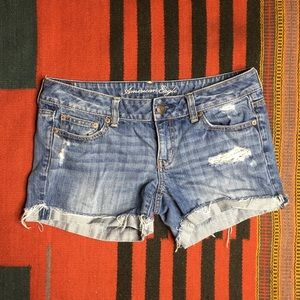 American Eagle Distressed Cut Off Jean Shorts Sz 8